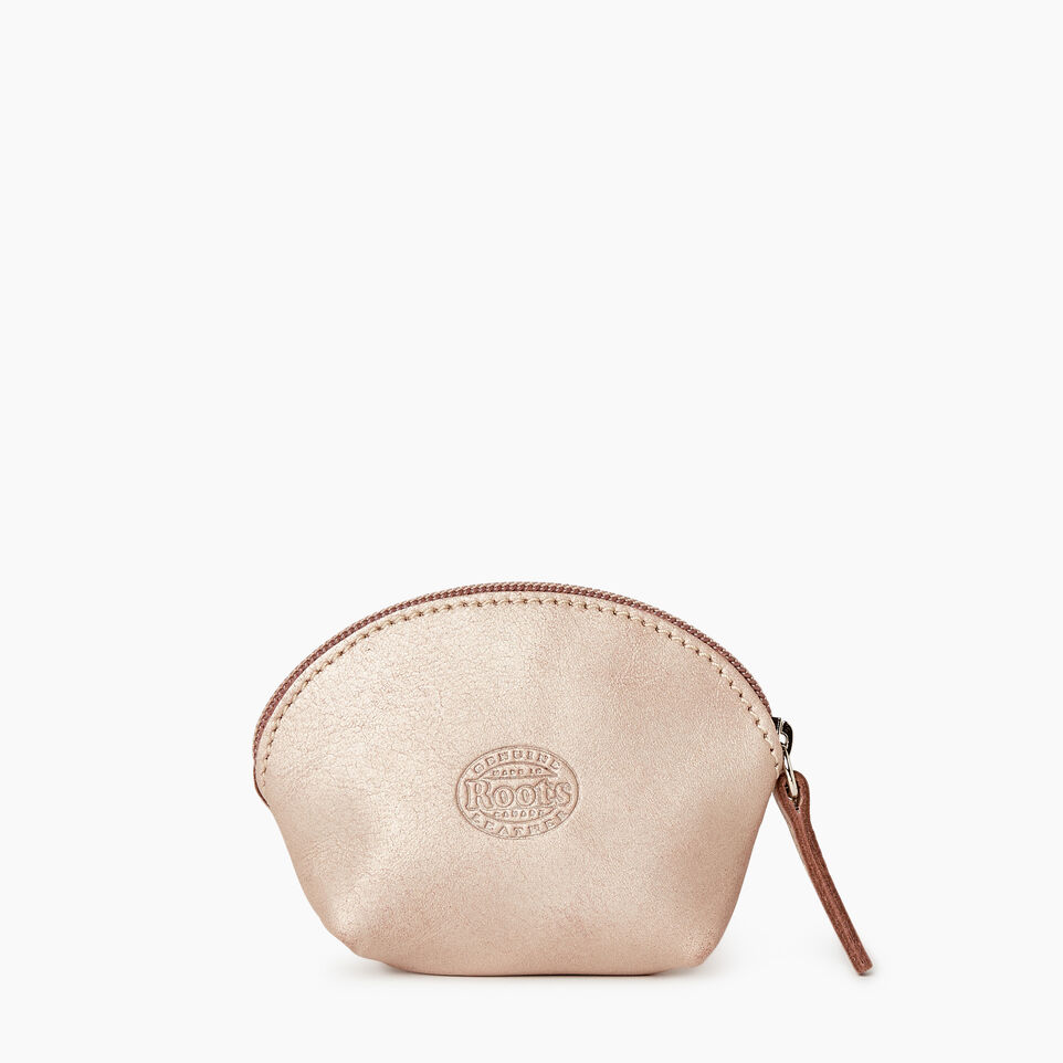 Roots-Leather Collections-Small Euro Pouch-Champagne-B