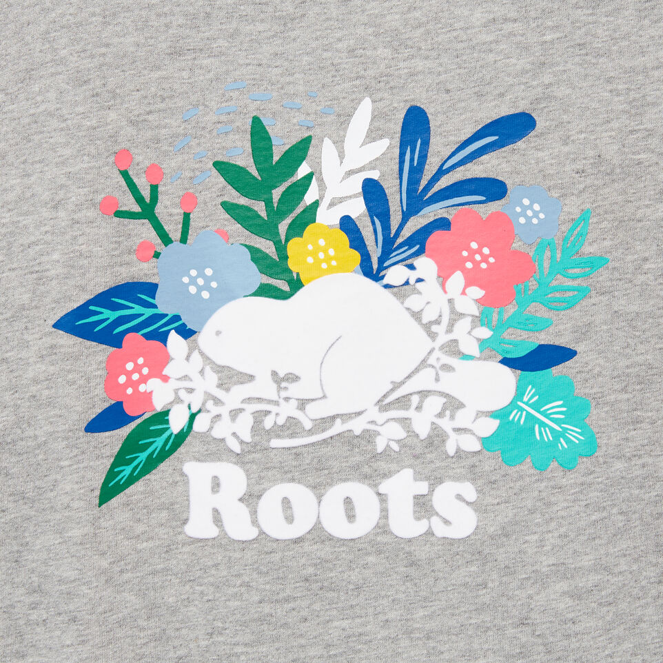 Roots-undefined-Girls Floral Beaver T-shirt-undefined-D