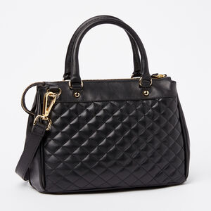 Roots-Leather New Arrivals-Little Gracie Quilted Nappa/Box-Black-A
