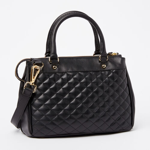 Roots-Leather Categories-Little Gracie Quilted Nappa/Box-Black-A
