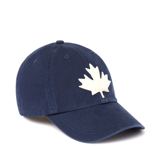 Roots-Men Accessories-Canada Leaf Baseball Cap-Navy-A