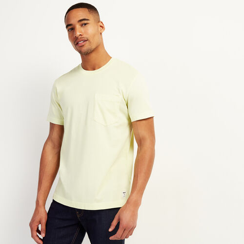 Roots-Men Clothing-Essential Pocket T-shirt-Limeade-A
