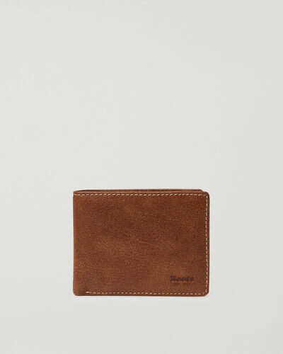 Roots-Leather Wallets-Mens Slimfold Wallet With Coin Pocket Tribe-Natural-A