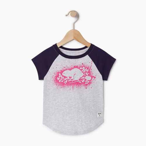 Roots-Kids Our Favourite New Arrivals-Toddler Splatter Raglan T-shirt-Snowy Ice Mix-A