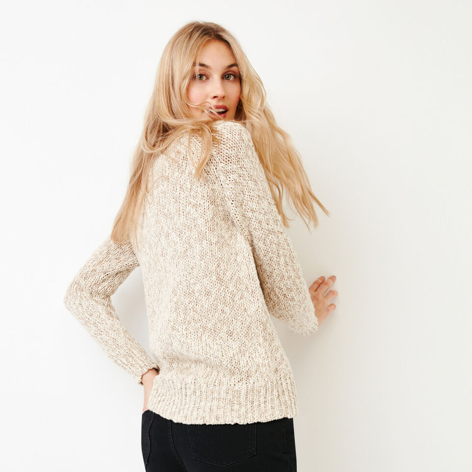 Roots-Women Our Favourite New Arrivals-Laurel V Neck Sweater-Oatmeal Mix-D