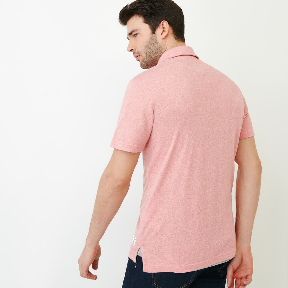 Roots-Men Our Favourite New Arrivals-Jersey Peppered Polo-Pink Pepper-D