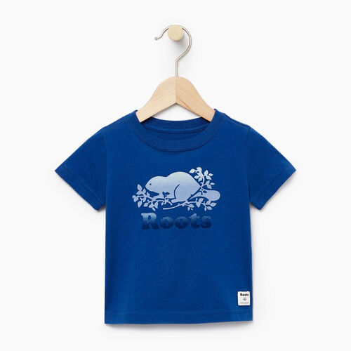 Roots-Clearance Baby-Baby Gradient Cooper T-shirt-Active Blue-A