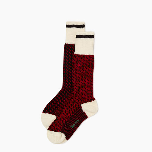 Roots-New For October The Roots Cabin Collection™-Roots 3 Point Cabin Sock 2 Pack-Cabin Red-A