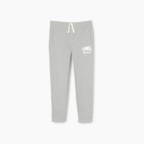 Roots-Kids New Arrivals-Girls Easy Ankle Sweatpant-Grey Mix-A