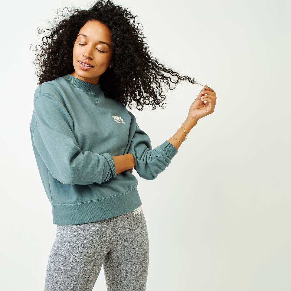 Roots-Women Our Favourite New Arrivals-Sussex Crew Sweatshirt-North Atlantic-A