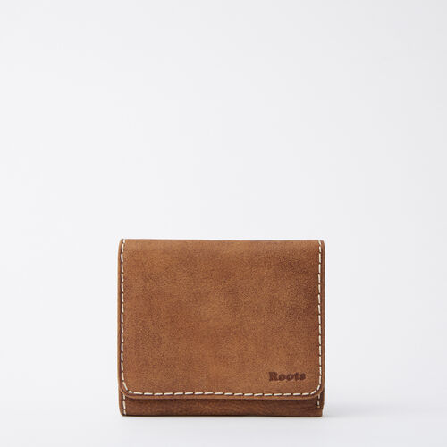 Roots-Leather  Handcrafted By Us Categories-Easy Trifold Wallet Tribe-Natural-A