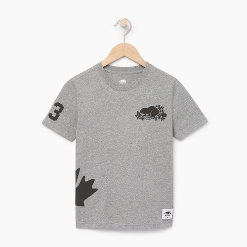 Roots-Kids Our Favourite New Arrivals-Boys Bedford T-shirt-Salt & Pepper-A