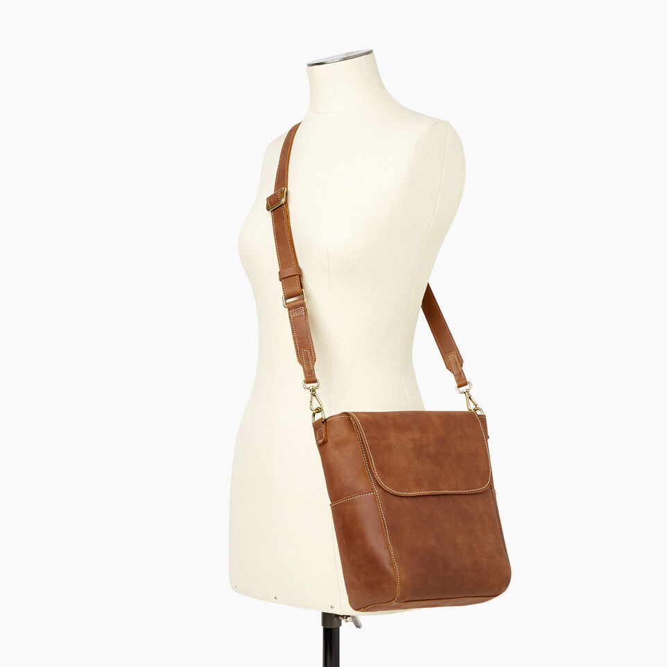 Roots-Leather Our Favourite New Arrivals-Small Journey Bag-Natural-B