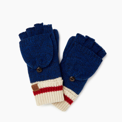 Roots-Sale Kids-Kids Cabin Flip Mitt-Navy Pepper-A