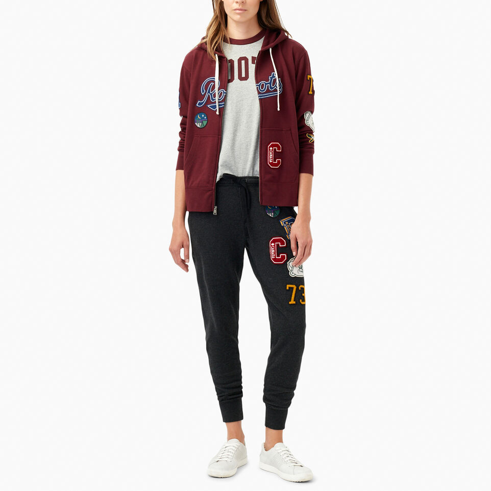 Roots-undefined-Varsity Patches Full Zip Hoody-undefined-B