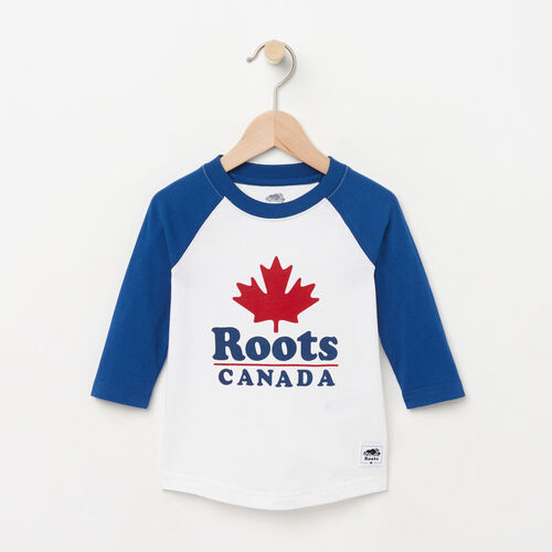 Roots-Kids Toddler Boys-Toddler Canada Ringer Raglan Top-White-A