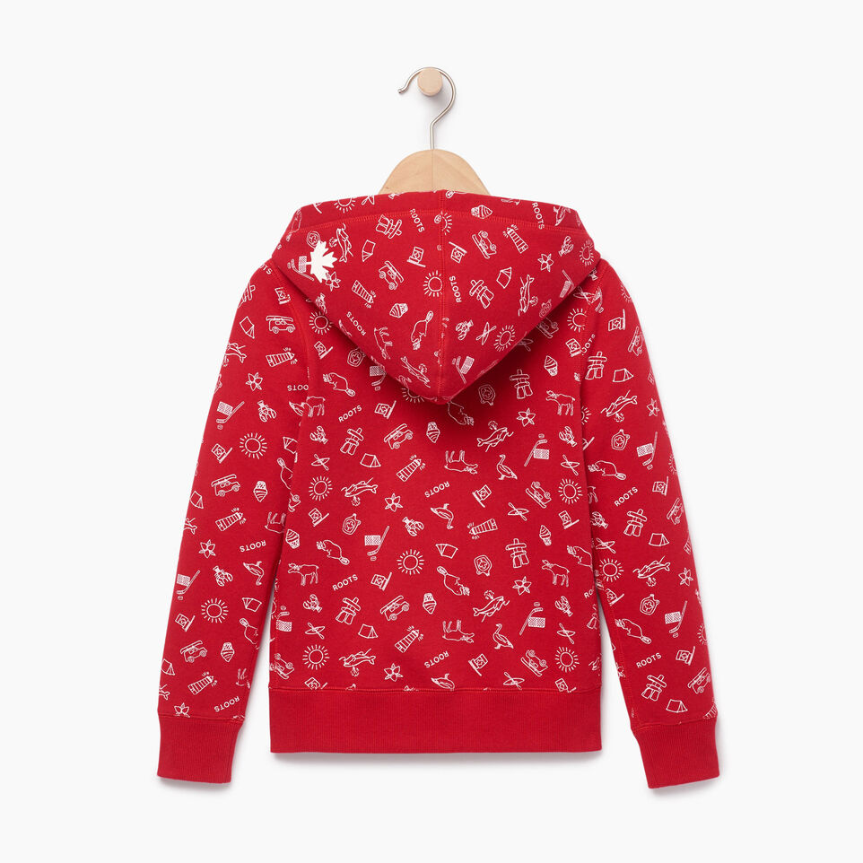Roots-undefined-Girls Canada Aop Full Zip Hoody-undefined-B