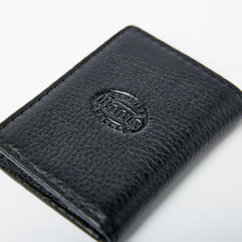 Roots-Men Wallets-Card Case With Id-Black-E