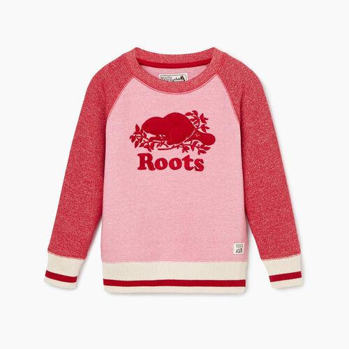 Roots-New For October Kids-Toddler Roots Cabin Cozy Sweatshirt-Cashmere Rose Pepper-A