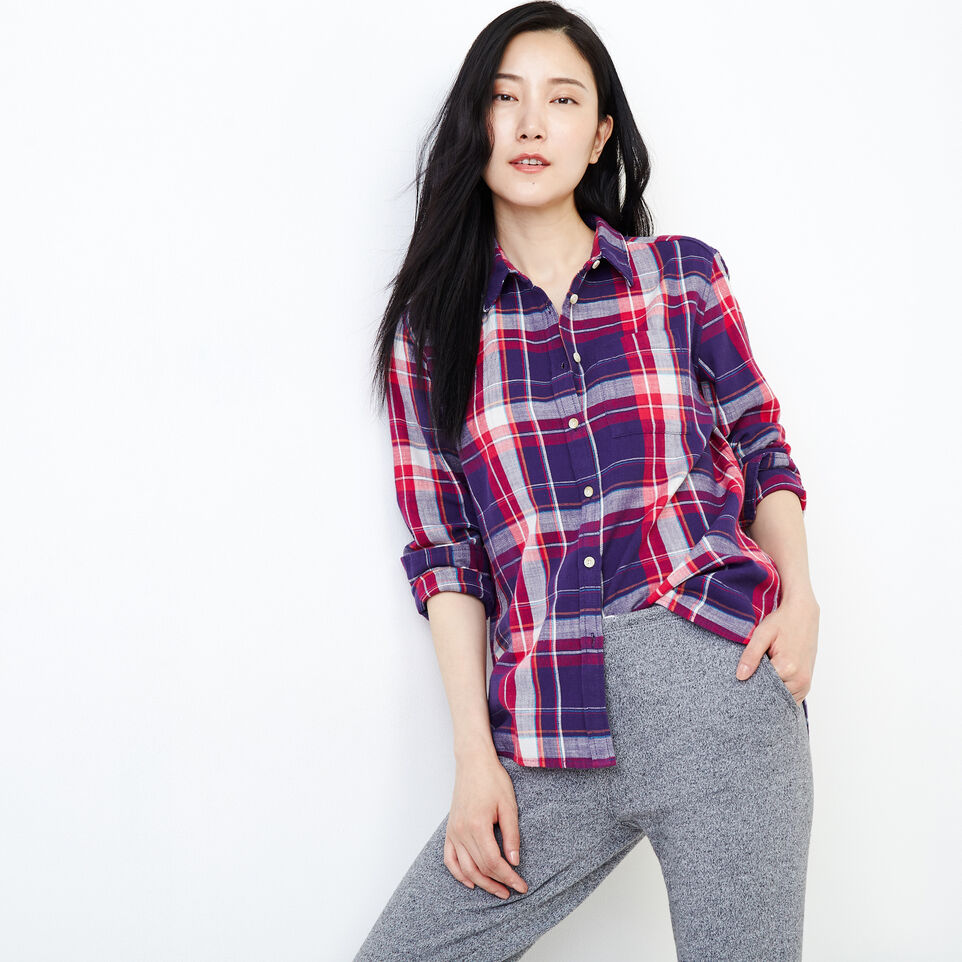 Roots-Women Clothing-All Seasons Relaxed Shirt-Pickled Beet-A