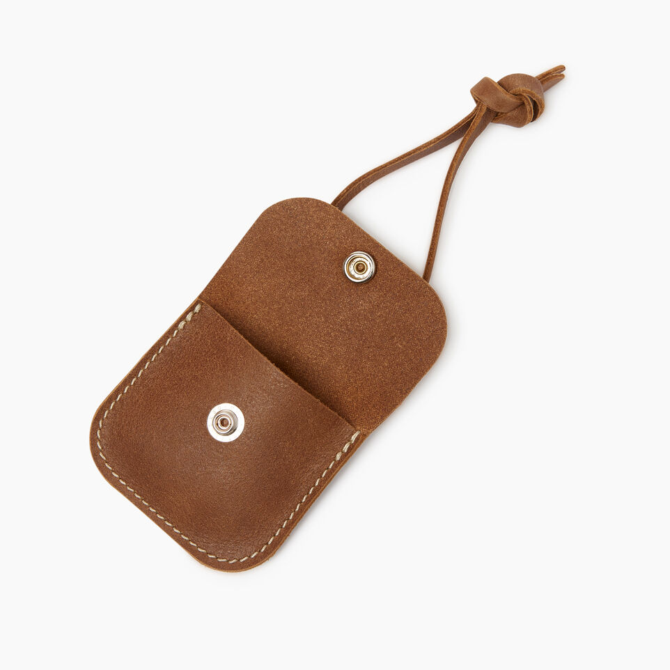 Roots-Leather  Handcrafted By Us Collections-Leather Tie Pouch-Natural-B