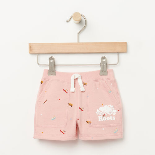 Roots-Sale Baby-Baby Camp Short-Blossom Pink-A
