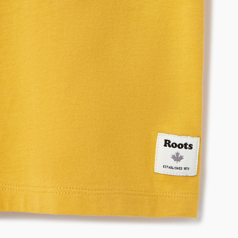 Roots-New For March Daily Offer-Womens Block 1973 Canada T-shirt-Medallion-C