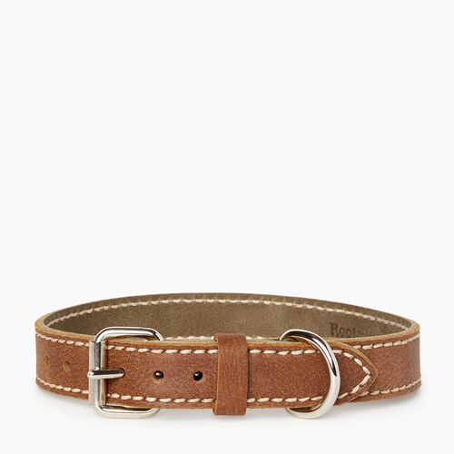 Roots-New For January Dog Accessories-Medium Leather Dog Collar-Natural-A