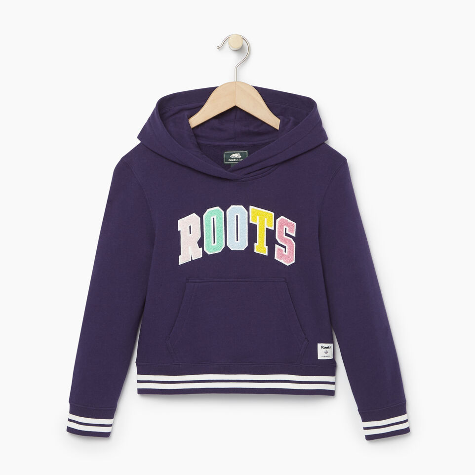 Roots-Kids Categories-Girls Roots Varsity Kanga Hoody-Eclipse-A