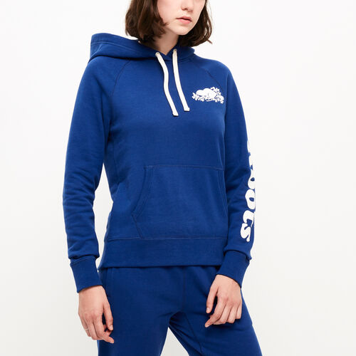 Roots-New For August Women-Remix Kanga Hoody-Lakeside Blue-A