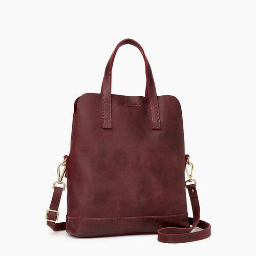 Roots-Leather  Handcrafted By Us Our Favourite New Arrivals-Junction Foldover-Crimson-A