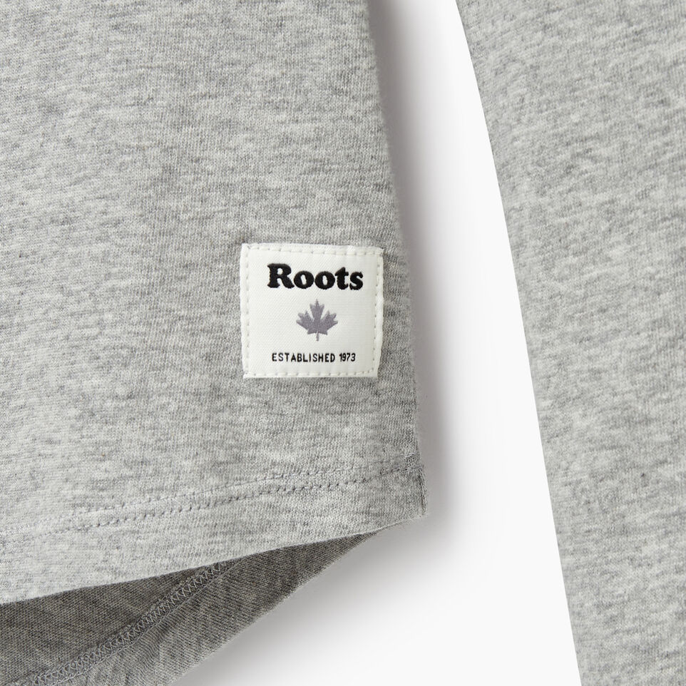 Roots-Sale Kids-Girls Explorer T-shirt-Grey Mix-D