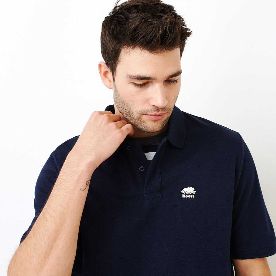 Roots-Men Shirts & Polos-Heritage Pique Polo-Navy Blazer-E