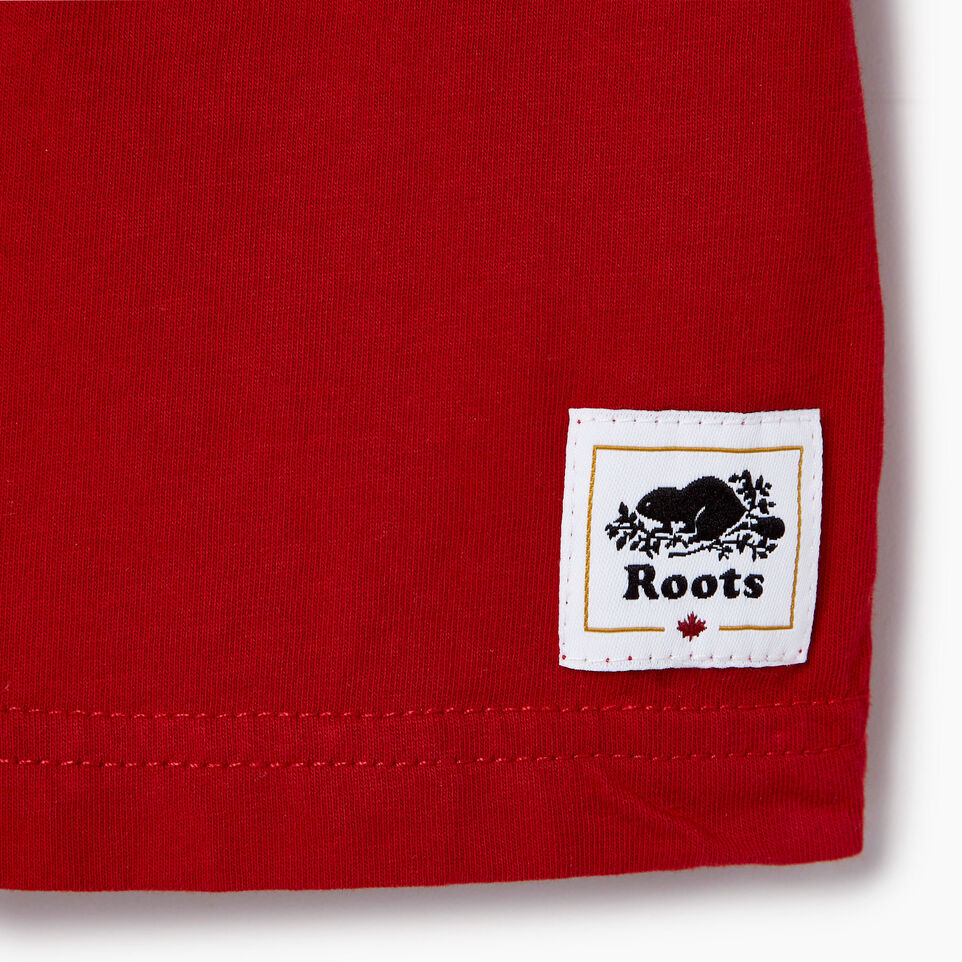 Roots-Kids Our Favourite New Arrivals-Baby Cooper Canada Ringer T-shirt-Sage Red-C
