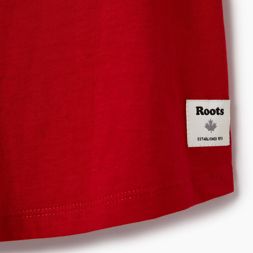 Roots-New For August Kids-Girls Confetti Canada T-shirt-Sage Red-C