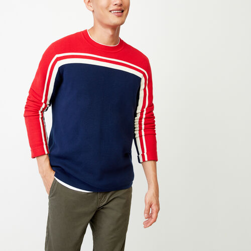 Roots-Men Tops-Pemberton Crew Sweater-Racing Red-A