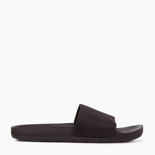 Roots-Footwear Men's Footwear-Mens Long Beach Pool Slide-Black-A