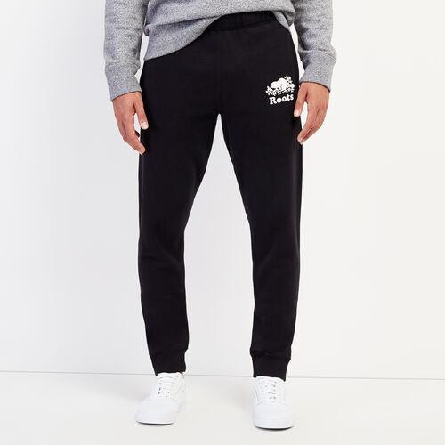 Roots-Men Bottoms-Park Slim Sweatpant-Black-A