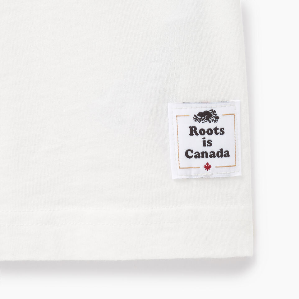 Roots-New For April Canada Collection By Roots™-Mens Cooper Canada T-shirt-Ivory-C