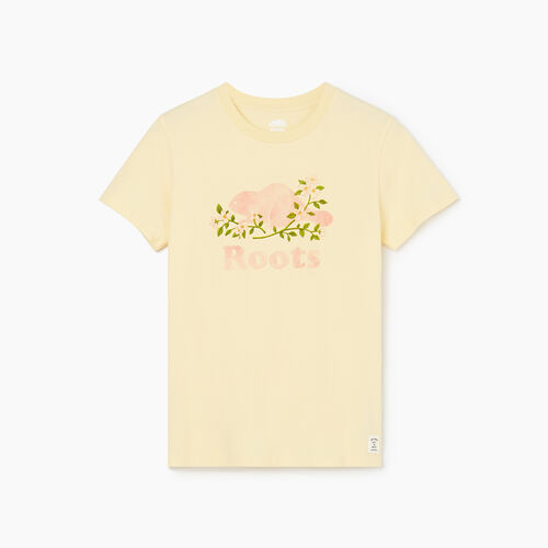Roots-Sale Tops-Womens Belle Etoile Organic T-shirt-Italian Straw-A
