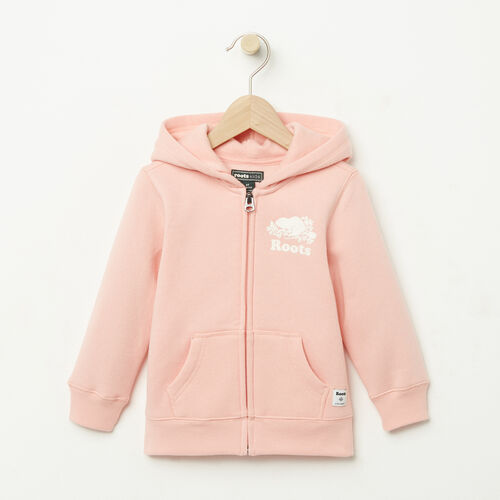 Roots-Kids Tops-Toddler Original Full Zip Hoody-Blossom Pink-A