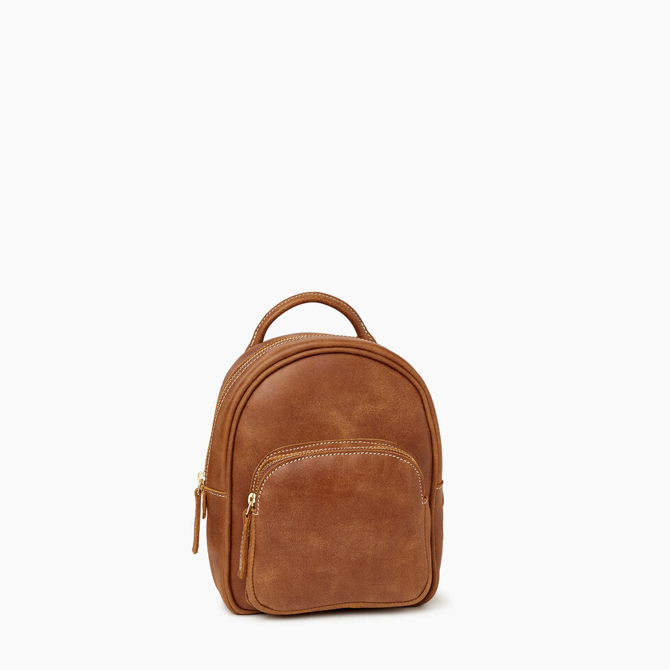 Roots-Leather Backpacks-City Chelsea Pack-Natural-A