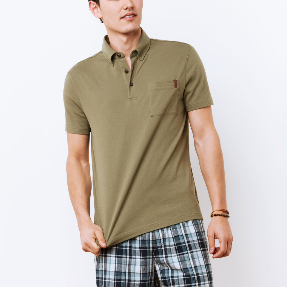 Roots-undefined-Polo En Jersey Cèdre-undefined-A