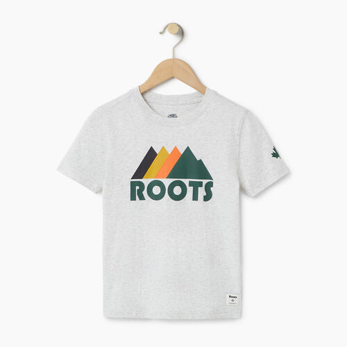 Roots-Clearance Kids-Boys Great Outdoors T-shirt-White Mix-A