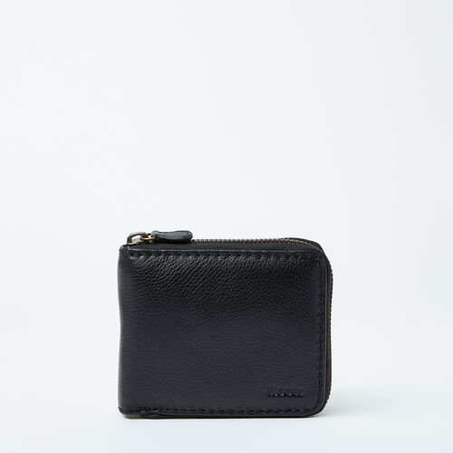 Roots-Leather  Handcrafted By Us Categories-Mens Zip Around Wallet Prince-Black-A
