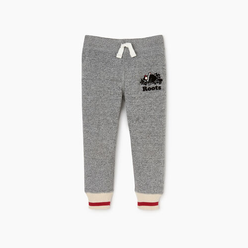 Roots-Clearance Kids-Toddler Buddy Cozy Fleece Sweatpant-Salt & Pepper-A