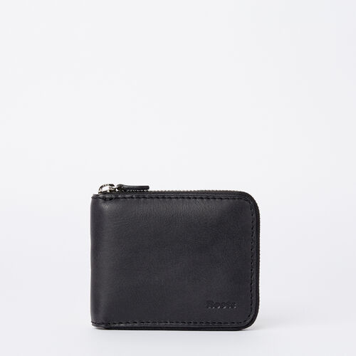Roots-Men Wallets-Mens Zip Around Wallet Tribe-Jet Black-A