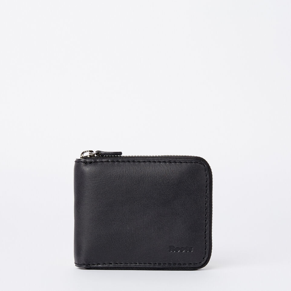 Roots-Mens Zip Around Wallet Tribe