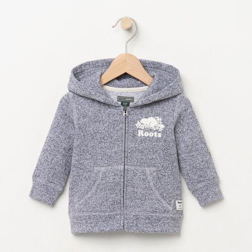Roots-Kids Categories-Baby Original Full Zip Hoody-Salt & Pepper-A