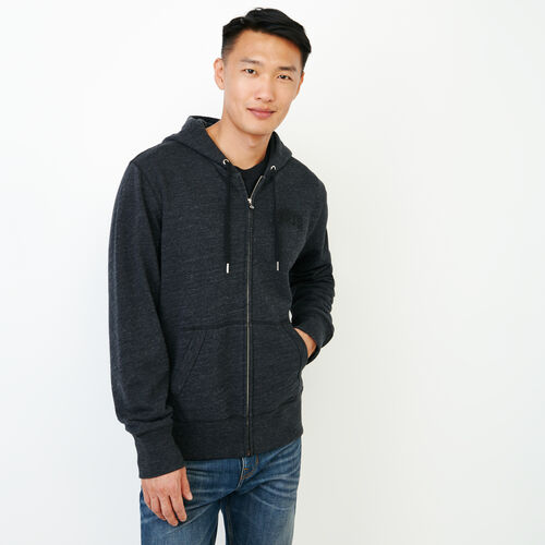 Roots-Men Our Favourite New Arrivals-40s Zip Hoody-Black Mix-A